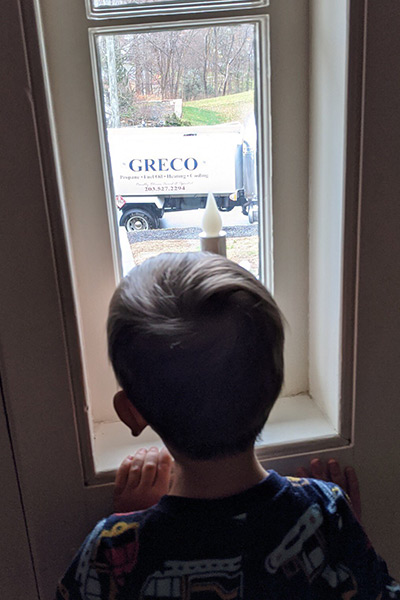 Gerry's Nephew Looking At Greco Truck